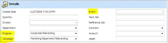JOB DETAIL dashboard tab.